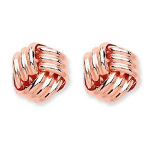 9CT HALLMARKED ROSE GOLD POLISHED 6MM KNOT STUD EARRINGS