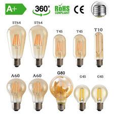 E27 ES LED Edison 2/4/8W Vintage Retro Lampe Glühlampe Filament Glühbirne Birne