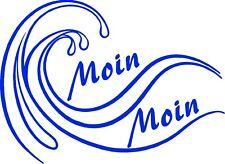 Autoaufkleber- Welle mit Moin Moin 2 wählbare Größen & div. Farben. Art.994