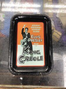 Elvis Presley King Creole Tin Ash Tray Black Vintage P-806