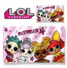 "NEW 2019 LOL SURPRISE DOLL GLITTERATI BEACH TOWEL 28"" X 58"" QUEEN BEE EASTER"