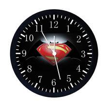 Superman V Batman Black Frame Wall Clock Nice For Decor or Gifts E22