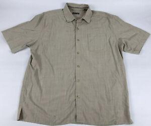 REI Mens Button Front Shirt SIze Large Beige