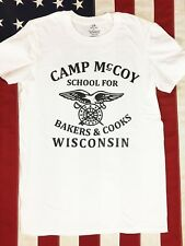 WWII US Army Bakers Cooks Camp McCoy PT Repro Shirt w Spec Tag, Mens size S - XL