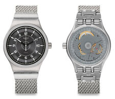 Swatch Sistem Meche S Automatic Watch yis418mb Analogue Stainless Steel Silver