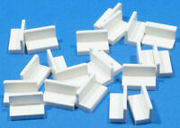 LEGO - 20 x Halbpanel / Panel / Panele / Bank 1x2x1 weiß / 4865b NEUWARE