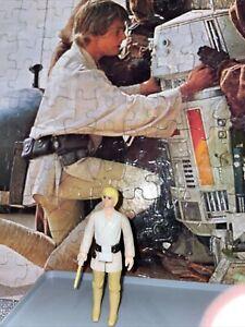 Star Wars Vintage 1977 Luke Skywalker Blonde Hair Farmboy Original Lightsaber