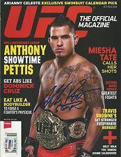 Anthony Pettis Signed 2014 UFC Magazine PSA/DNA COA Picture w/ Belt Autograph