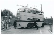 Transport Hants BOURNEMOUTH Trolley Bus #54 Christchurch Turntable photo Packer