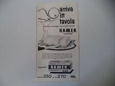 advertising Pubblicità 1962 FORMAGGIO RAMEK KRAFT