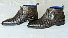 VERY NICE! $1250+ MEZLAN CUSTOM Crocodile Alligator Ankle Boots Loafers Shoes 10