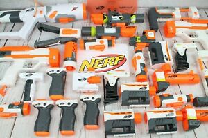 NERF GUN ATTACHMENTS, PARTS, EXTENSIONS - SCOPE BARREL GRIP CLIP FORTNITE GUNS