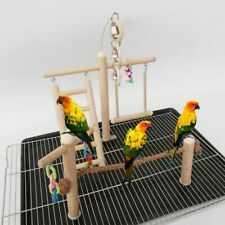 Bird Play Gym Parrot Perch Stand Bird Activity Center Wooden Large Playpen Toy