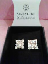 Avon Picture Perfect CZ Stud Earrings - SILVERTONE