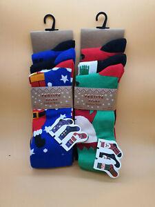 Pack of 3 Men's Novelty Christmas/Xmas socks, 2 designs, size 6-11