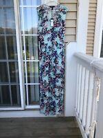 BCBG BCBGMAXAZRIA Taren Slit-Front Drawstring Maxi Long Sleeveless Dress M