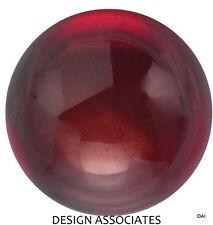 12 MM Cabochon Round Cut Red Garnet