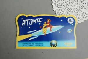 Atomic Sewing Needle Book Mid-Century Modern Rocket Ship Advertising Complete