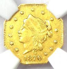 1870 Liberty 25C California Gold Quarter BG-757 R6. NGC MS61 (BU UNC) - Rarity-6