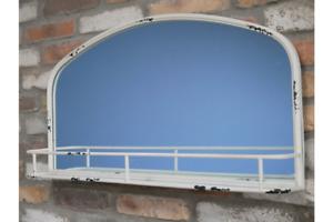 Mirror Wall Shelf industrial storage shelving bathroom decor Vintage style shelf