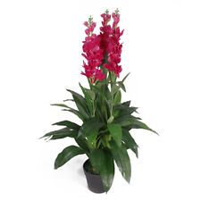 100cm Artificial Cymbidium Orchid Plant - Extra Large - Dark Pink Flowers LEA...
