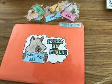 Foxes by Five counting by 5's math Centers File Folder Games 2nd grade