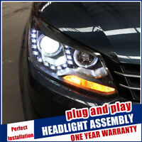 For VW Touran Headlights 11-15 Double Beam Lens Projector Xenon HID LED DRL RHD
