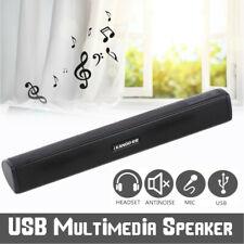 Portable USB Stereo Speaker Audio Soundbar Mini USB Laptop Computer Speakers BR