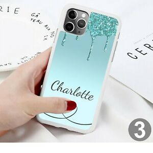 Glitter Heart Phone Case Cover For iPhone Samsung Huawei Google Pixel ETC 164-3