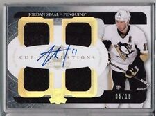 11/12 Upper Deck The Cup Jordan Staal Foundations Quad Jersey Auto #'ed 05/15