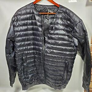 Adidas TERREX Hike Bomber Down Full Zip Jacket Men's M BLACK GD1165 $200 MSRP
