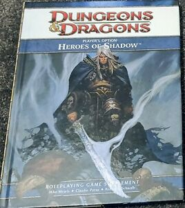 Dungeons and Dragons (D&D) 4th Edition (4E) - Players Options - Heroes of Shadow