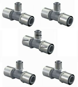 Pack of 5 Uponor S-Press Composite Tee Reducer PPSU 25-16-20