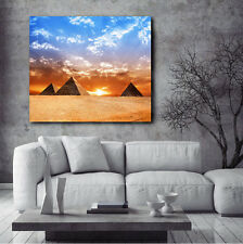 Egypt Pyramids Beautiful Sunset Canvas Art Poster Print Home Wall Decor