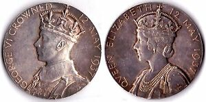 1937 KING GEORGE VI CORONATION SILVER MEDAL