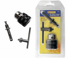 """1/2"""" DRILL CHUCK ADAPTOR AND KEY 3PC SDS PLUS ADAPTER"""