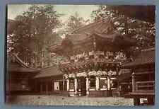 Japon, Japanese Temple  Vintage silver print. Vintage Japan  Tirage albuminé a