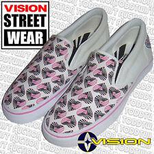 Vision Street Wear ROSA Hipnosis Corazón Zapatos SIN CIERRES 4.5uk-7 EUA