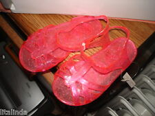 TODDLER GIRL PINK GLITER JELLY SLINGBACK SANDALS SIZE 24M  NWT BY CUTIE PIE.