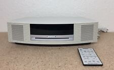 Bose Wave CD Player Radio AM/FM Alarm Clock iPhone/iPod Platinum AWRCC2 SN:5189