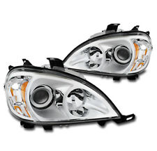 1998-2005 MERCEDES-BENZ W163 ML REPLACEMENT PROJECTOR HEADLIGHT LAMP CHROME PAIR