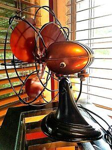 Vintage 1950's Westinghouse Electric Fan Art Deco, Root beer , Refurbished
