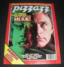1978 Oct PIZZAZZ Magazine #13 VF- 7.5 Incredible Hulk / Lou Ferigno / Bill Bixby