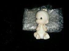 Precious Moments 1983.(Baby Sitting up Clapping) Figurine.