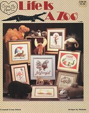 Life is a Zoo Cross Stitch Book - Cross My Heart #20 - Vintage