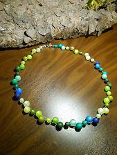 Neu unikat grün Polariskette blau Halskette Collier Polaris perlen kette türkis