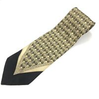 Vitaliano Pancaldi For The Forum Tie Men's Black Gray Beige Gold Necktie Italy