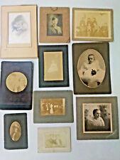 10 Antique Photos - Pictures - Photography- c1900 - Men - Women -children OLD