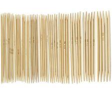 Juego De 55 Agujas De Ganchillo Pa Tejer Bambu Puntas Dobles P7B5