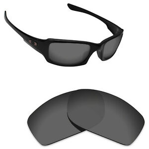 Scratch Proof Replacement Lenses for-Oakley Fives Squared Sport Black Polarized